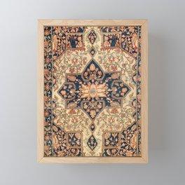 Ferahan  Antique West Persian Rug Print Framed Mini Art Print
