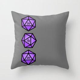 Purple d20 Throw Pillow