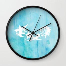 Kingdom Hearts Watercolor Wall Clock