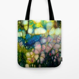 flowers in sunny forest Tote Bag