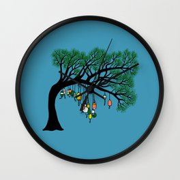 Buoy Tree by Seasons K Designs for Salty Raven Wall Clock