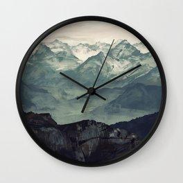 Mountain Fog Wall Clock