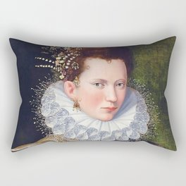 Portrait of Court Lady with Dog by Lavinia Fontana Rectangular Pillow