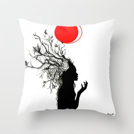 Fertile Mind Throw Pillow
