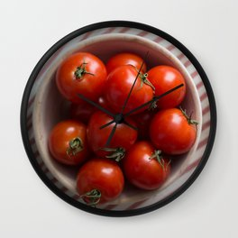 Summer Tomatoes Wall Clock