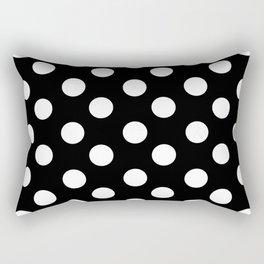 Polka Dot (White & Black Pattern) Rectangular Pillow