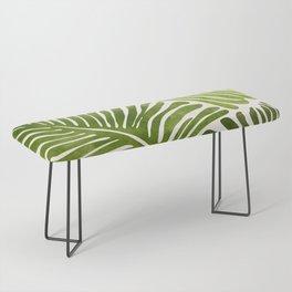 Summer Fern / Simple Modern Watercolor Bench