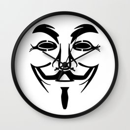 Anonymous Vendetta Wall Clock