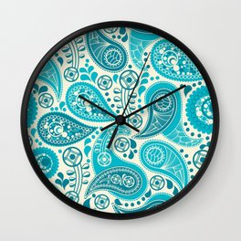 Paisley Pattern Boteh Buta Droplet Abstract Wall Clock