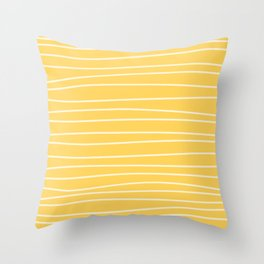 Sunshine Brush Lines Throw Pillow
