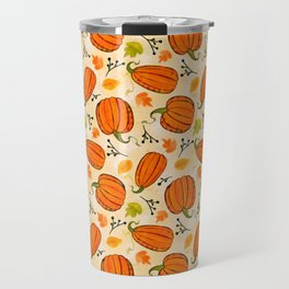 Pumpkins pattern I Travel Mug