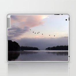 Uplifting III: Geese Rise at Dawn on Lake George Laptop & iPad Skin