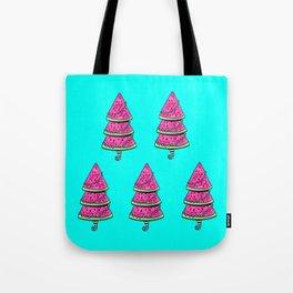 Aussie Christmas Card Set Pink & Aqua Design#1 Watermelon Trees Tote Bag
