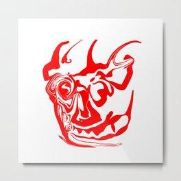 face8 red Metal Print