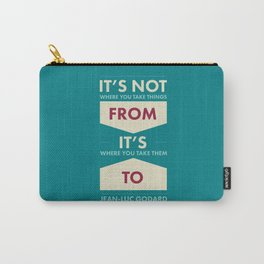 Godard (The quotes series) Carry-All Pouch