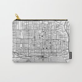 Vintage Map of Toronto (1906) BW Carry-All Pouch