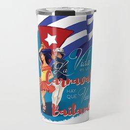 Cuban Carnaval Dancing Travel Mug