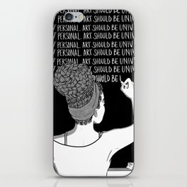 """Black Art""-1 iPhone Skin"