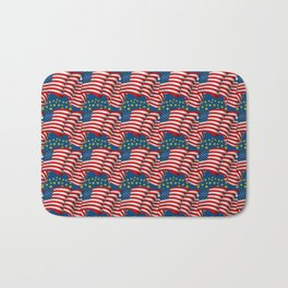 American Flag Pattern Bath Mat