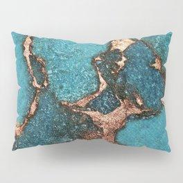 GEMSTONE  & GOLD AQUA Pillow Sham