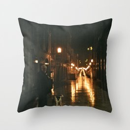 Old men with a dog - Bordeaux Throw Pillow