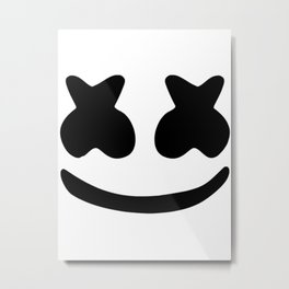 Marshmello smile Metal Print
