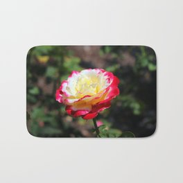 Rose With Colorful Tips Bath Mat