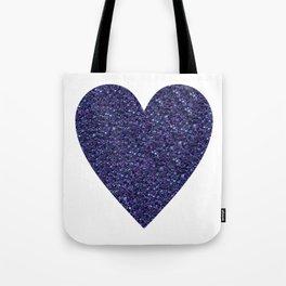 Sparkling Heart blue Tote Bag