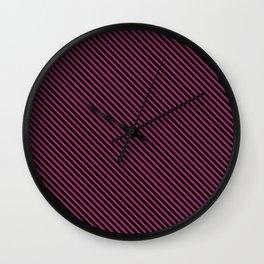 Festival Fuchsia and Black Stripe Wall Clock