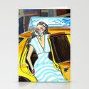 Yellow Cab at Time Square – Original Fashion art, Fashion Illustration, Fashion wall art by pinghattastudio
