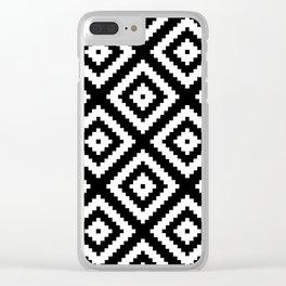 Tribal B&W Clear iPhone Case
