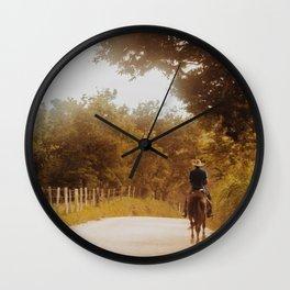 Horse Riding Wall Clock