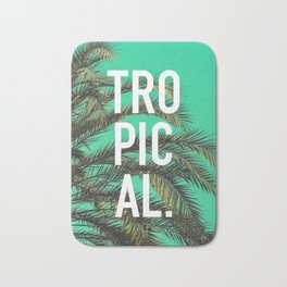 Vintage summer tropical typography palm tree photography Bath Mat