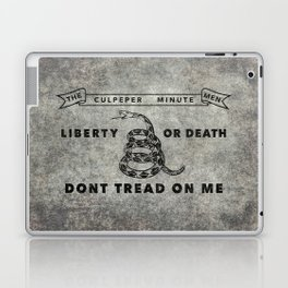 Culpeper Minutemen flag, Worn distressed version Laptop & iPad Skin