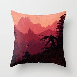 Under A Blood Moon Throw Pillow