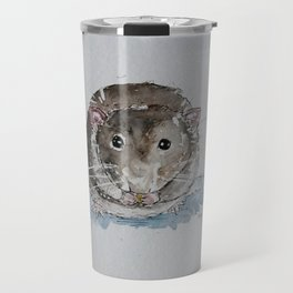 Grey rat illustration Travel Mug