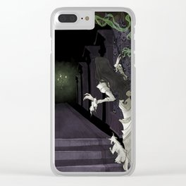 When candelights flicker... Clear iPhone Case