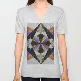 Marble Geometric Background G441 Unisex V-Neck