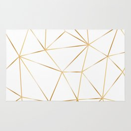 gold polygon on white Rug
