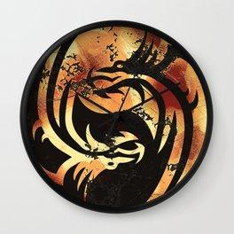 Yin and Yang Dragons Artwork Wall Clock