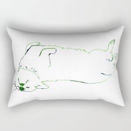 Simplistic Corgi Rectangular Pillow