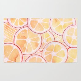 Tangerine Ring Party! Rug