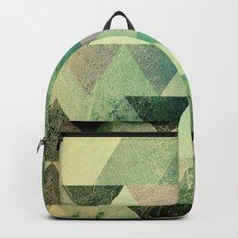 Triangle vintage green based1 Backpack