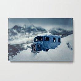 Little Cars, Big Planet (Winter) Metal Print