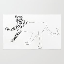 Half-dressed leopard Rug