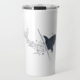 Shark. Geometric style Travel Mug