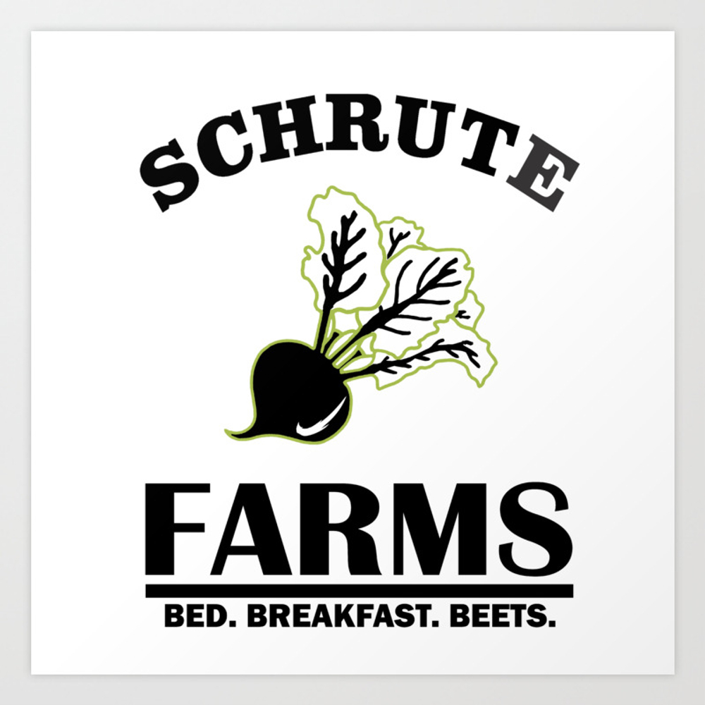 Schrute Farms Bed And Breakfast Art Print by Dirtyedge PRN8652860