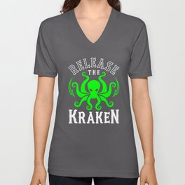 Release The Kraken Unisex V-Neck