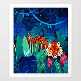jungle tiger Art Print