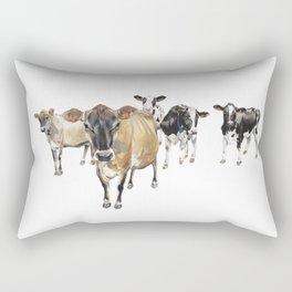 Cow Crowd Rectangular Pillow